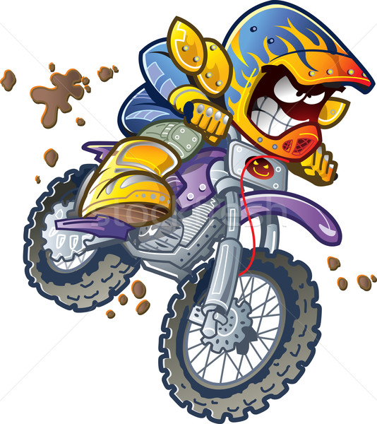 Dirt Bike Rider Stock photo © ClipArtMascots