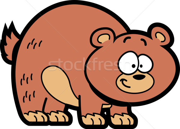 Cartoon orso sorridere felice rosolare grizzly bear Foto d'archivio © ClipArtMascots