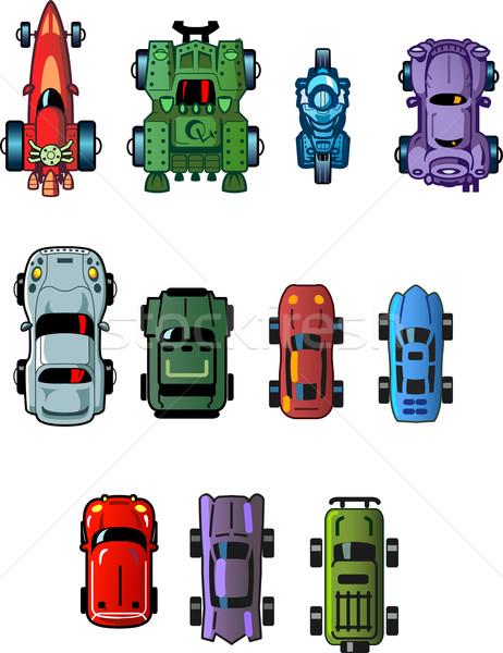 車 コンピュータ ゲーム クール 小 漫画 ストックフォト © ClipArtMascots