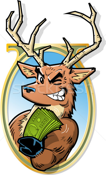 Big Bucks Stock photo © ClipArtMascots