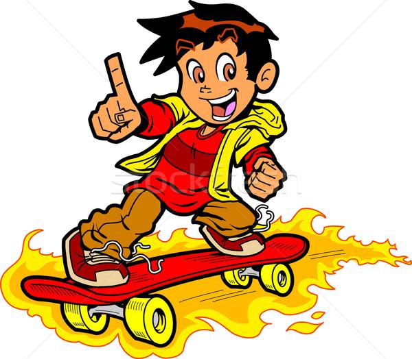 火災 クール スケート 少年 ストックフォト © ClipArtMascots