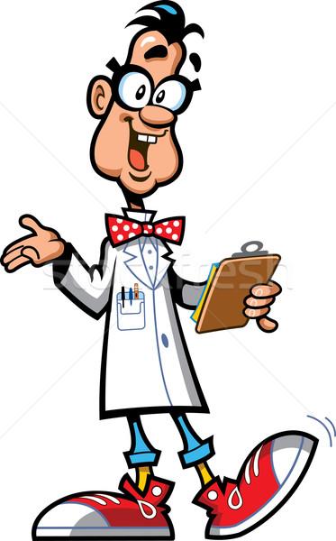 супер гений счастливым лаборатория профессор ученого Сток-фото © ClipArtMascots