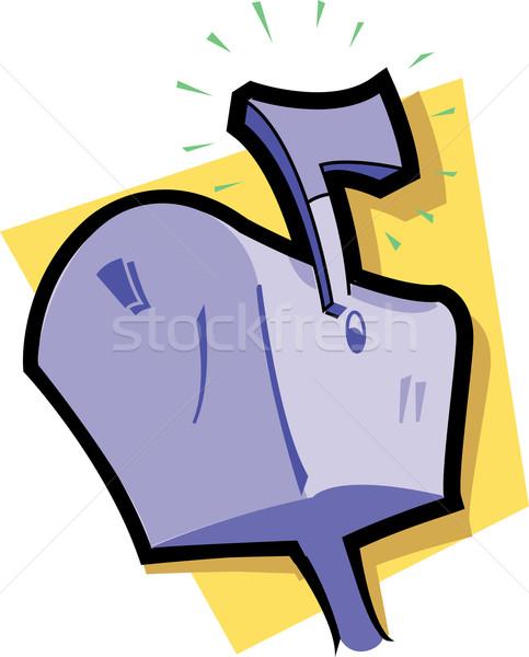 メールボックス アイコン ボックス フラグ 手紙 通信 ストックフォト © ClipArtMascots
