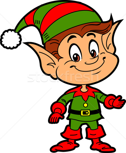 Christmas Elf Stock photo © ClipArtMascots