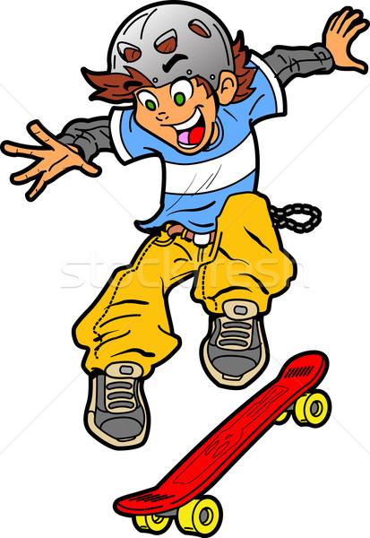 Skateboarder Doing Trick Stock photo © ClipArtMascots