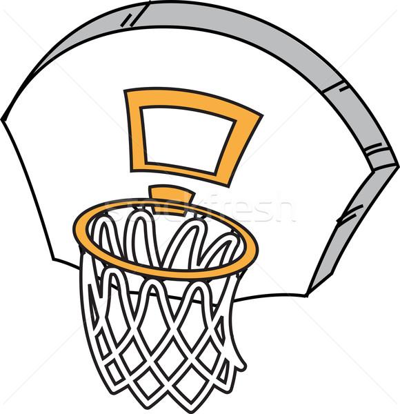 Basket cartoon net sport palla basket Foto d'archivio © ClipArtMascots
