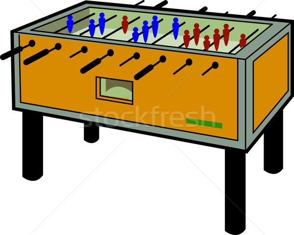 Csocsó asztal rajz illusztráció futball sport Stock fotó © ClipArtMascots