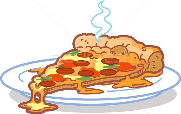 Fetta pizza caldo piatto alimentare ristorante Foto d'archivio © ClipArtMascots