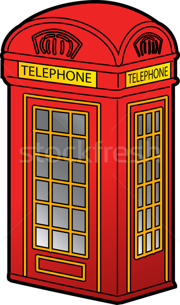 British Phone Booth Stock photo © ClipArtMascots