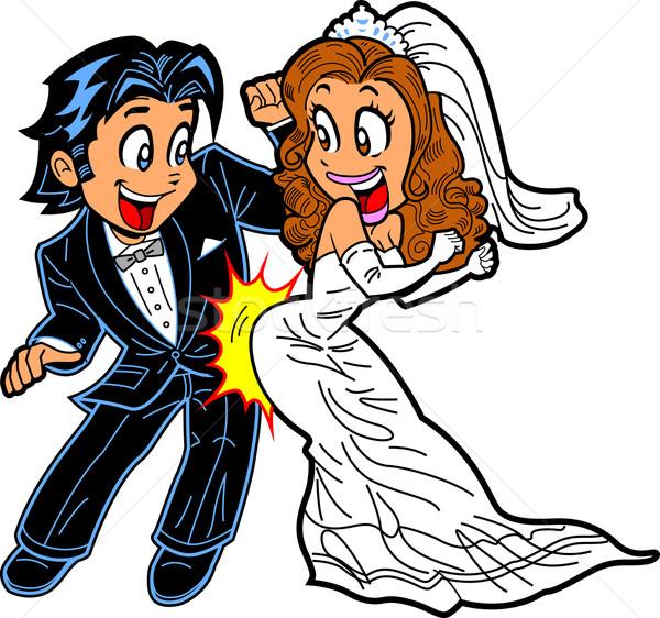 結婚式 ダンス カップル 幸せ 音楽 ストックフォト © ClipArtMascots