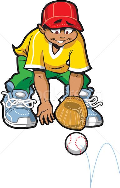 地上 ボール 幸せ 野球 ソフトボール 準備 ストックフォト © ClipArtMascots
