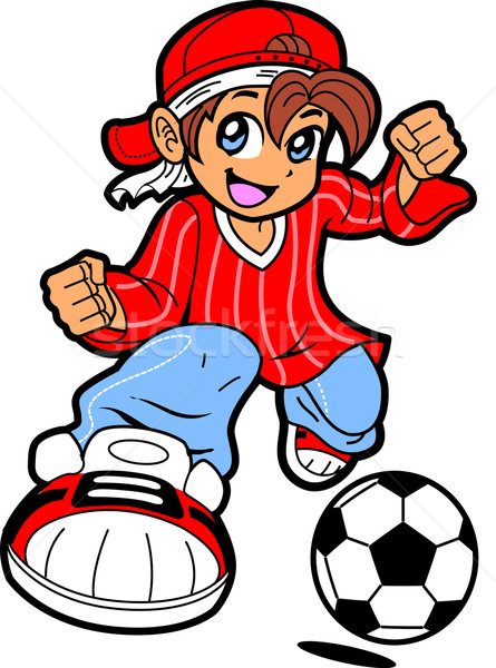 Anime Manga Soccer Player Stock photo © ClipArtMascots