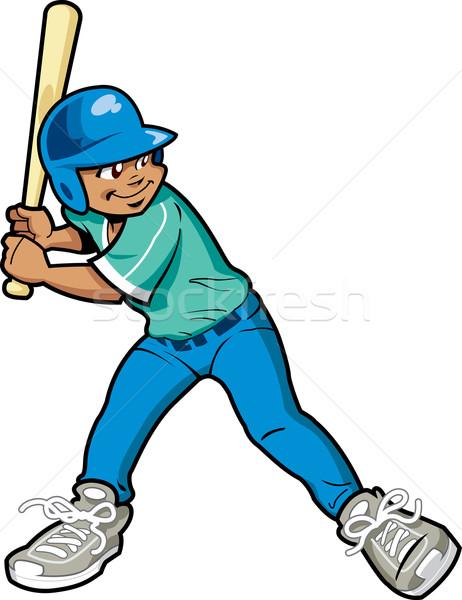Boy Baseball Batter Stock photo © ClipArtMascots