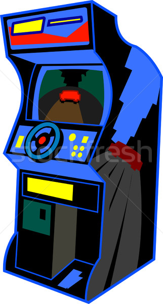 Retro Arcade Video Game Stock photo © ClipArtMascots