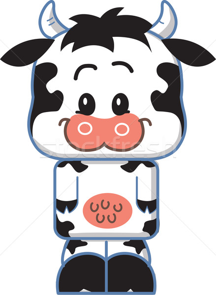 Cute Cow Cartoon Character Stock photo © ClipArtMascots