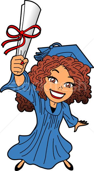 окончания счастливым улыбаясь диплом Cap Сток-фото © ClipArtMascots