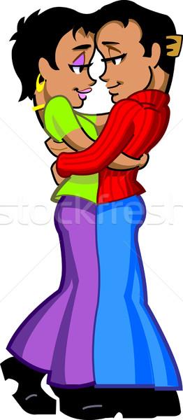 Hug Stock photo © ClipArtMascots