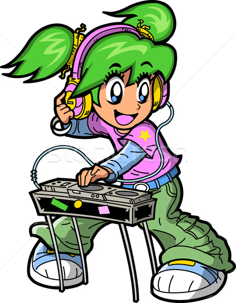 Anime Manga DJ Stock photo © ClipArtMascots