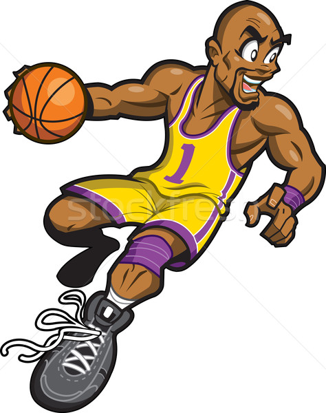 Black Basketball Player Stock photo © ClipArtMascots