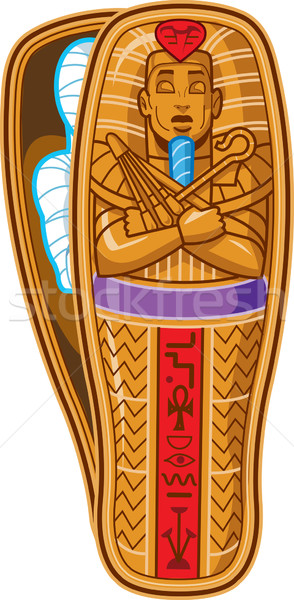 Mummy Sarcophagus Stock photo © ClipArtMascots