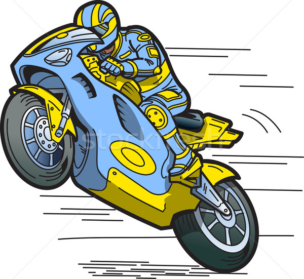 Speeding Motorcycle Racer Stock photo © ClipArtMascots