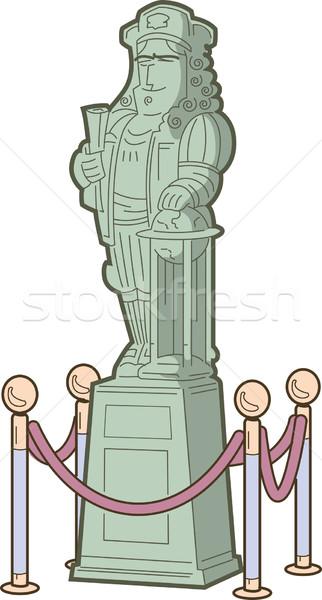 Storico figura statua altro explorer Foto d'archivio © ClipArtMascots