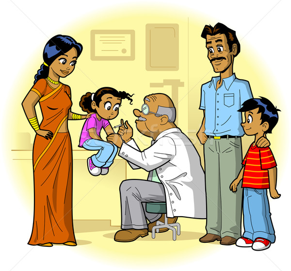 Indian Family Doctor Visit Stock photo © ClipArtMascots
