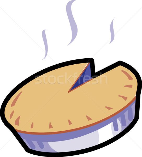 Torta caldo torta grafico stock grafica Foto d'archivio © ClipArtMascots
