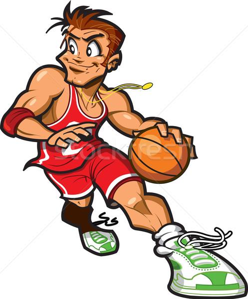 Lächelnd Basketball erschossen Stock foto © ClipArtMascots