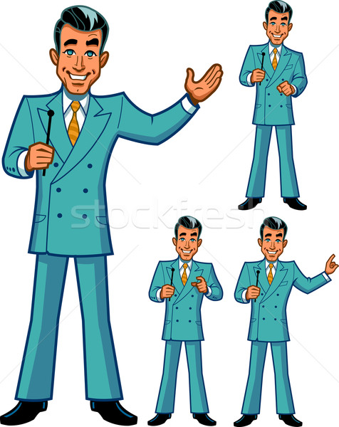 Game Show Host Poses Stock photo © ClipArtMascots