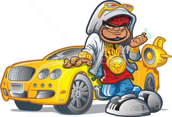 Pimp Gangsta With Car Stock photo © ClipArtMascots