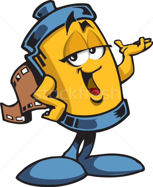 Roll of Film Character Stock photo © ClipArtMascots