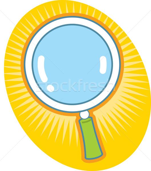 虫眼鏡 アイコン ガラス 検索 在庫 グラフィック ストックフォト © ClipArtMascots
