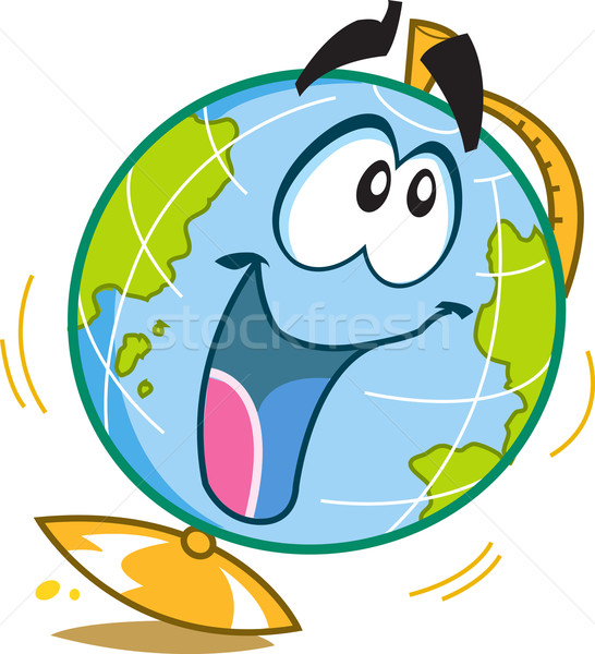Feliz diversão globo escolas mapa Foto stock © ClipArtMascots