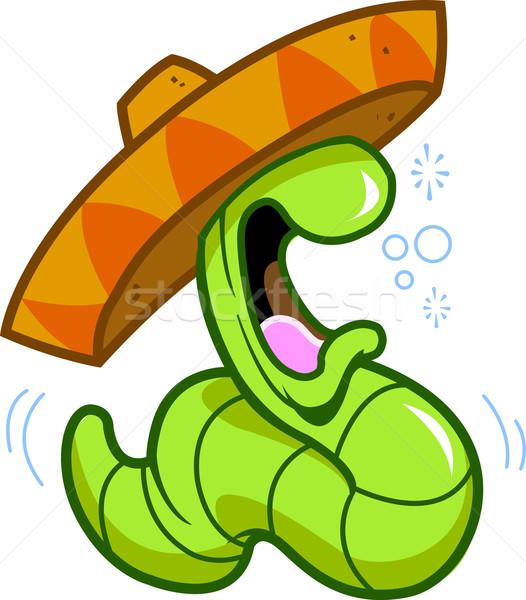 Tequila kukac részeg iszik bulizás ünnepel Stock fotó © ClipArtMascots