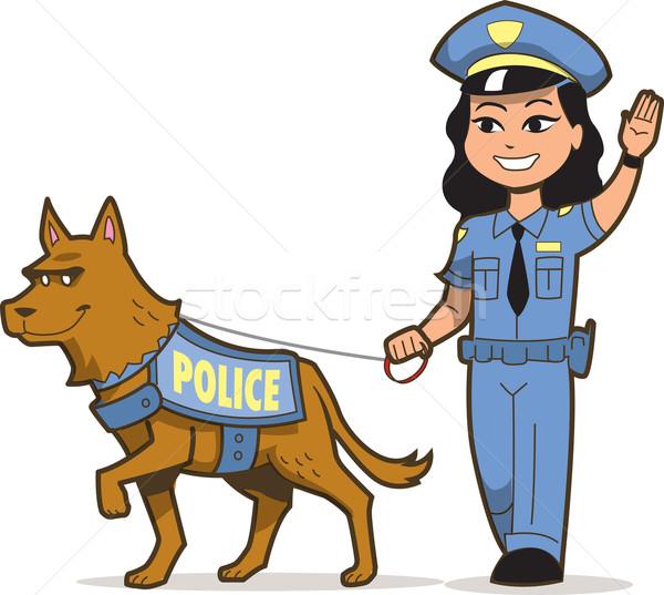 K-9 Police Dog Stock photo © ClipArtMascots