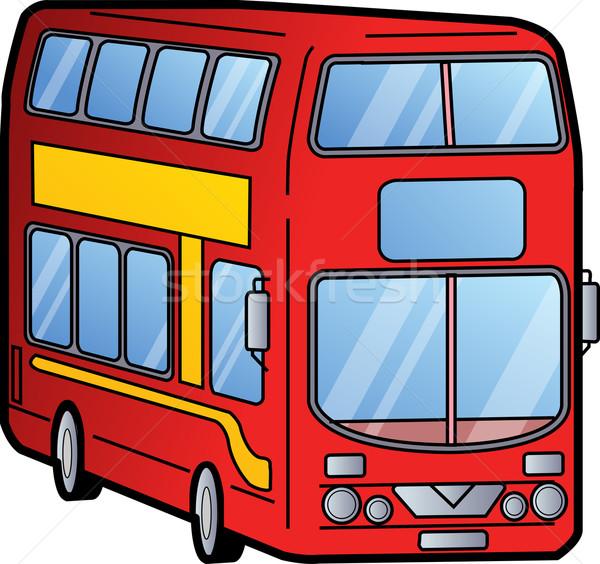 Raddoppiare bus classico rosso Londra città Foto d'archivio © ClipArtMascots