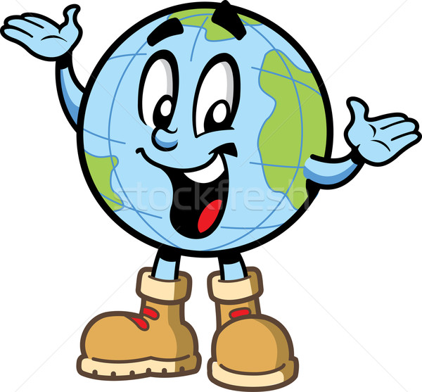 Happy Globe Guy Stock photo © ClipArtMascots