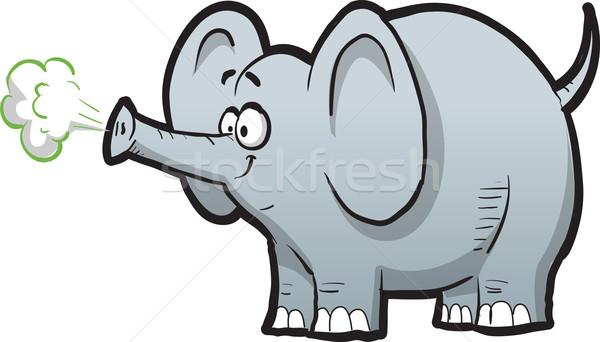 Cartoon elefante felice africa giungla sorridere Foto d'archivio © ClipArtMascots