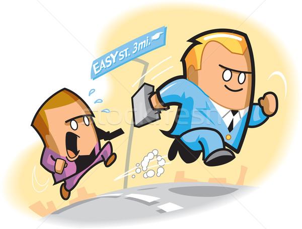 簡単 通り 漫画 2 ビジネスマン ストックフォト © ClipArtMascots