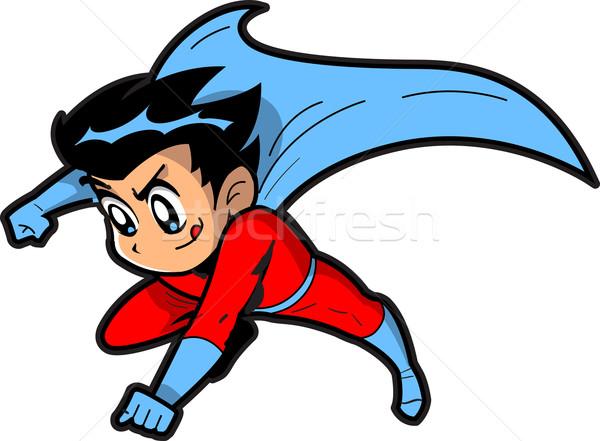 Stock fotó: Anime · manga · fiú · szuperhős · repülés · készít