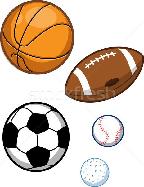 スポーツ バスケットボール サッカー サッカーボール 野球 ストックフォト © ClipArtMascots