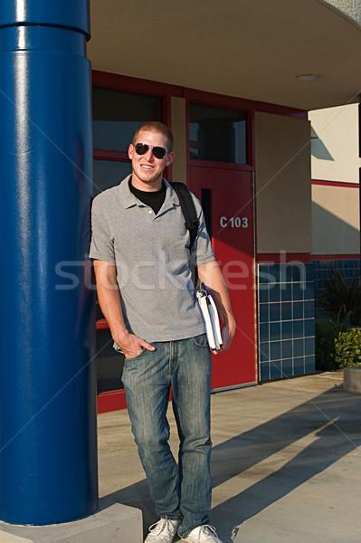 Főiskola diákok fiatal kívül osztályterem nyilvános Stock fotó © cmcderm1