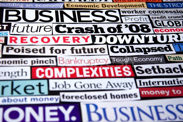 Stockfoto: Economisch · krant · magazine · recessie · genezing