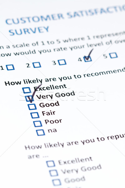 Customer Survey Stock photo © cmcderm1