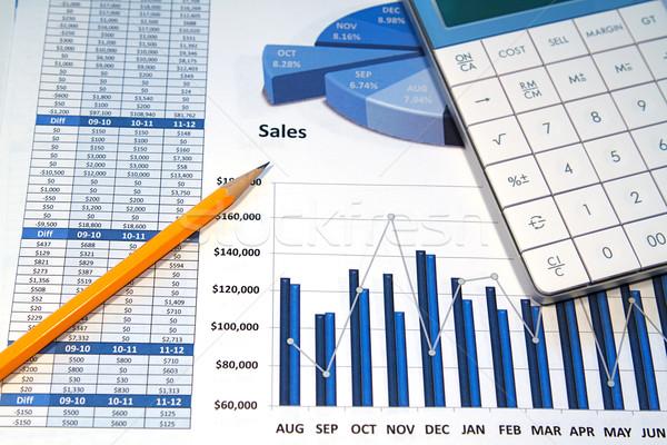 Couleur graphiques stratégie d'entreprise simulateur crayon données Photo stock © cmcderm1