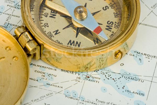 Antique Compass Stock photo © cmcderm1