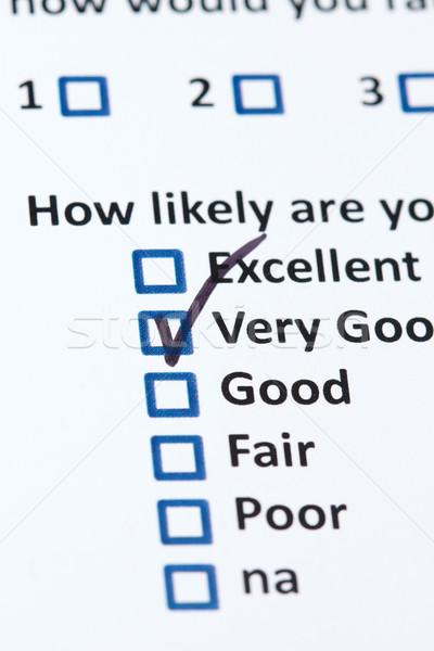 Stock photo: Customer Survey
