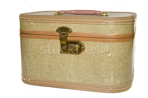 El bagaj eski antika seyahat turizm Stok fotoğraf © cmcderm1