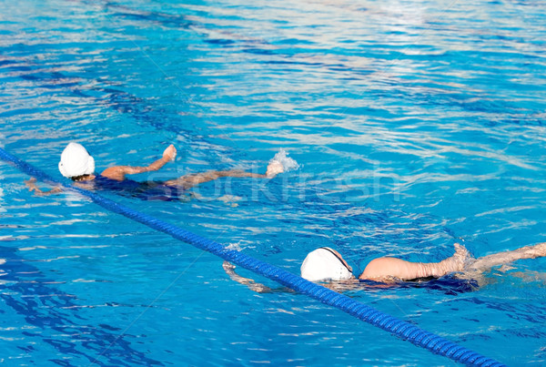 Sutopu oyun eylem yüzme havuzu su Stok fotoğraf © cmcderm1